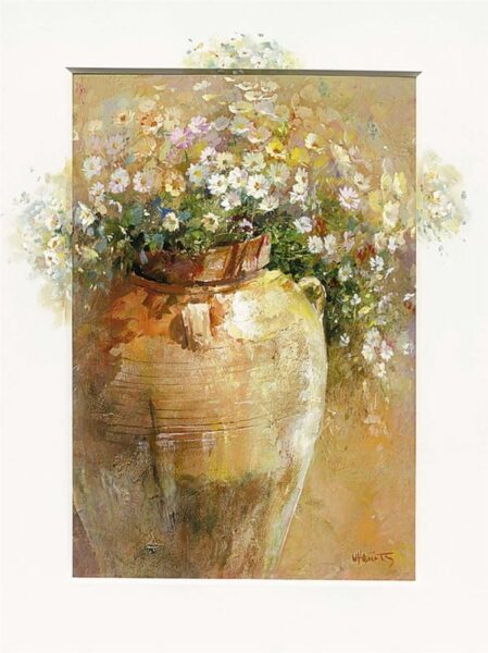 """Flowers in a Pot I"" by Willem Haenraets, original artwork"