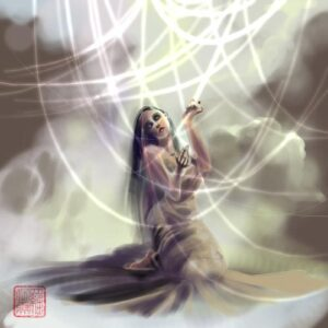 """Web of Light"" by Stephanie Pui-Mun Law, original digital art, 2000"