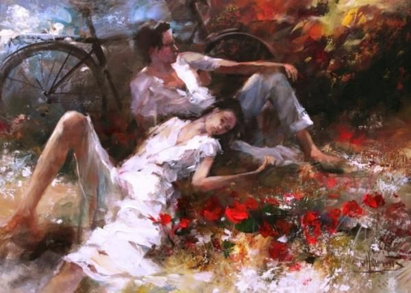"""Couple"" by Willem Haenraets, acrylic on canvas, 2011"