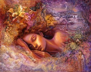 """Psyche's Dream"" by Josephine Wall, original artwork"