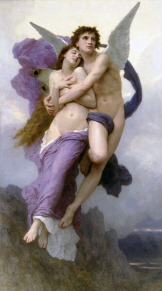 """Le Ravissement de Psyche (The Rapture of Psyche)"" by William-Adolphe Bouguereau, oil on canvas, 1895"