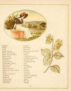"""The Language of the Flowers"" illustrated by Kate Greenaway"