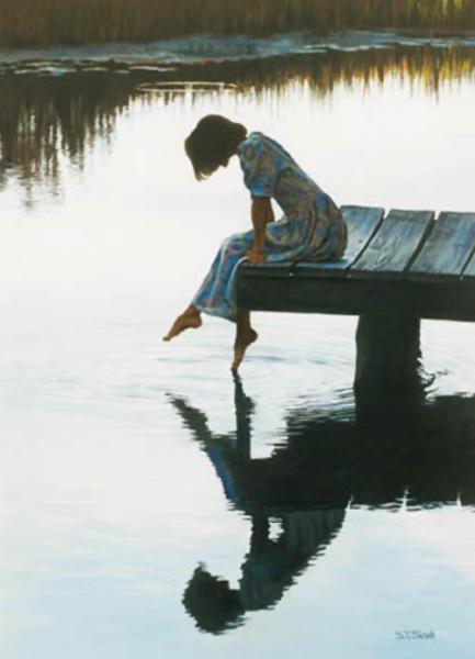 """Silhouettes"" by Tom Sierak, original pastel"