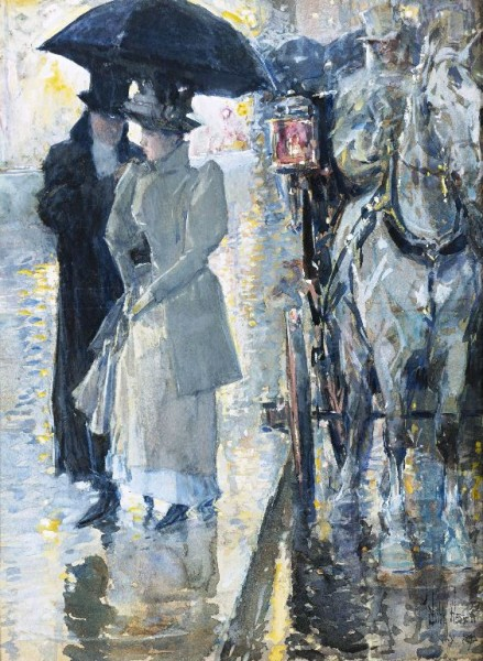 """Rainy Day, New York"" by Frederick Childe Hassam, 1899"